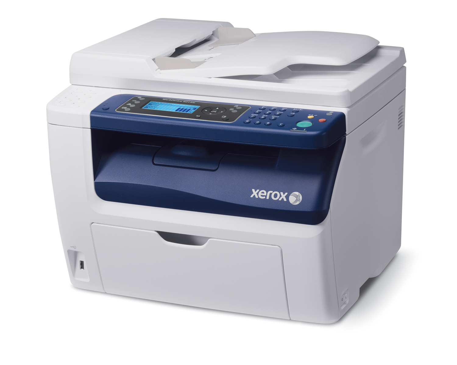 The WorkCentre 6015 color multifunction printer is Xerox's first Wi-Fi enabled device. The desktop MFP combines print, copy, scan, fax and digital workflow capabilities into a compact design to maximize office space and convenience.